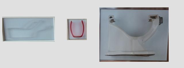 , 'De la seri ABC: u, v, w (urinario, vaso, wc),' 2011, GALERÍA PATRICIA READY