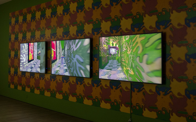 Claudia Hart, 'The Ruins (three-channel)', 2020, Video/Film/Animation, Three-channel video animation (color, sound), three screens or projectors, three media players, speakers, bitforms gallery