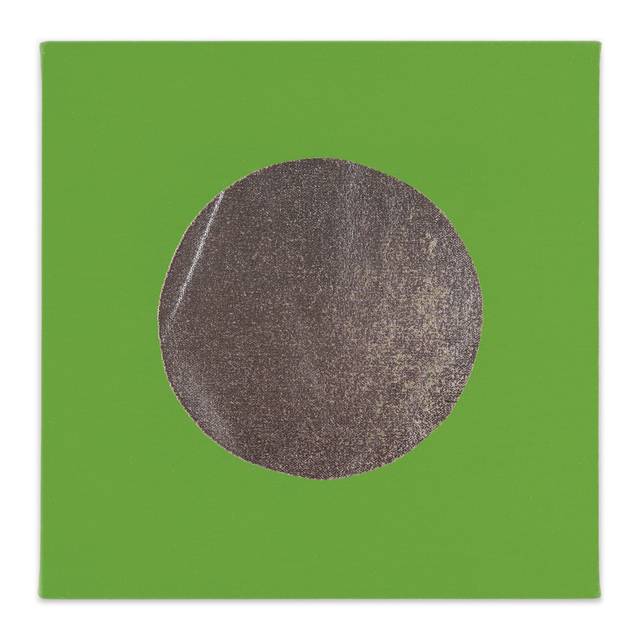 Chad Kouri, 'Reflection Pool Green (1x1)', 2021, Painting, Foil on dyed canvas, Uprise Art