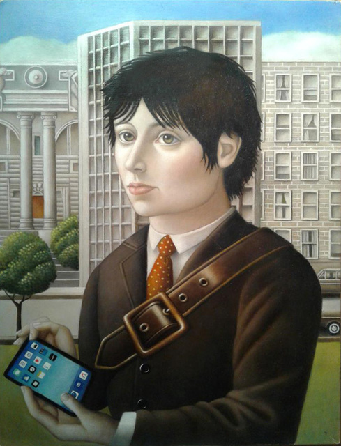 , 'Man with Ipad,' , Front Room Gallery