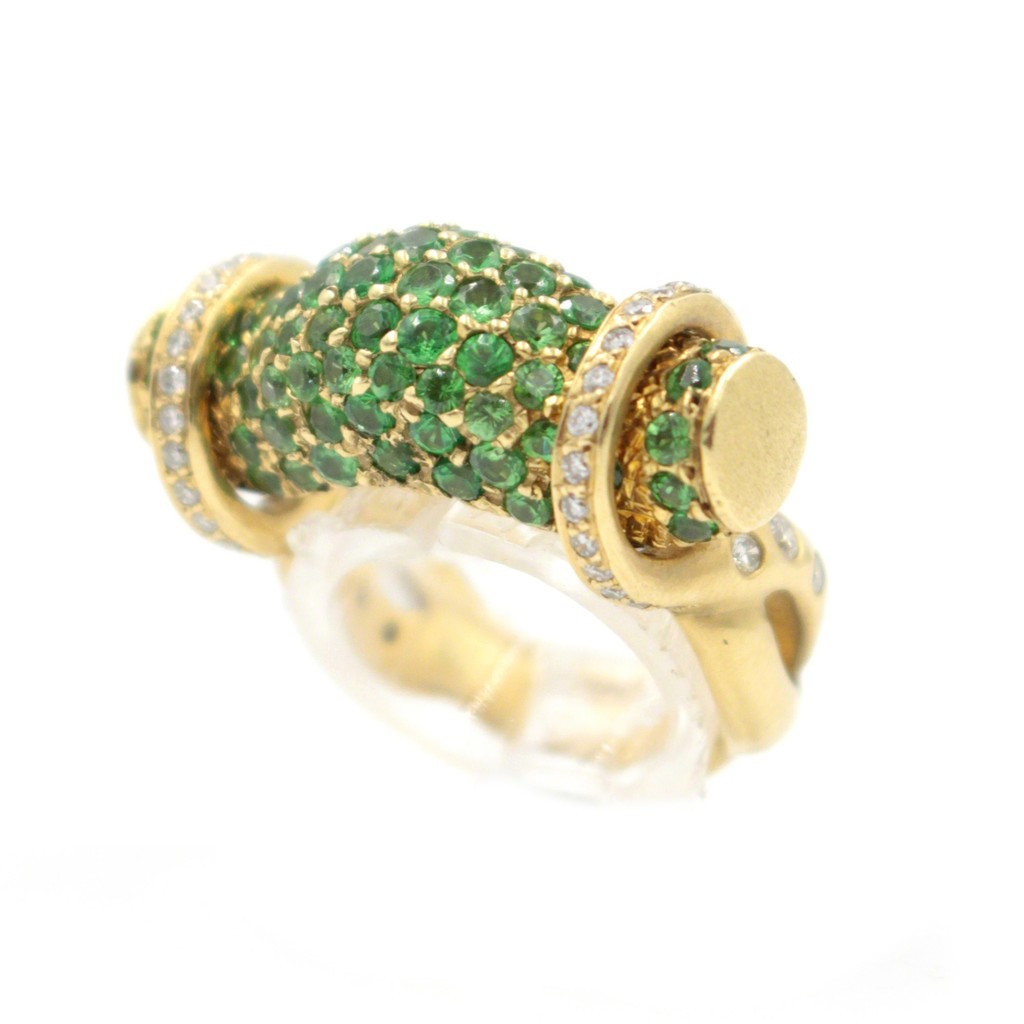 Ionescu Design   Tsavorite Diamond Gold Ring (2016)   Available ...