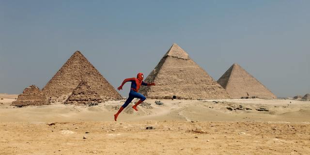 "David Kassman, '""The Spiderman Project"" Giza Pyramid', 2010, Make-A-Wish Foundation"