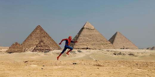 """The Spiderman Project"" Giza Pyramid"