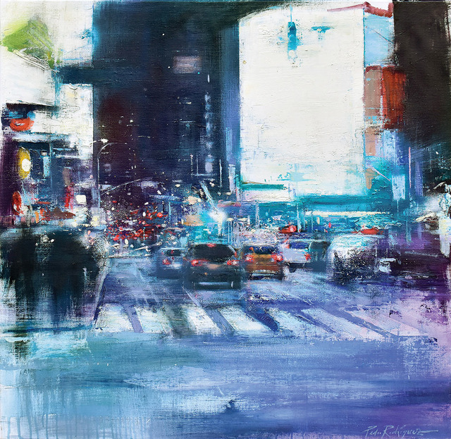 , 'Night on 7th Avenue, New York,' 2018, Adam Gallery
