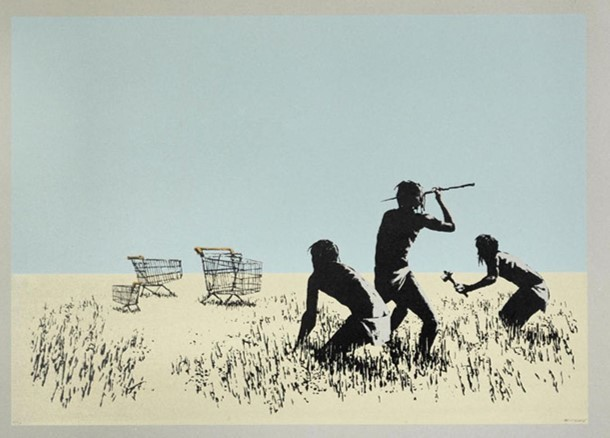 Banksy, 'Trolley Hunters (Colour) ', 2007, Rhodes