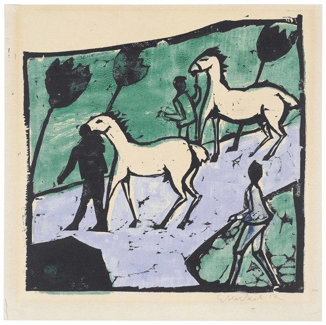 Erich Heckel, 'Weisse Pferde', 1912, Christie's