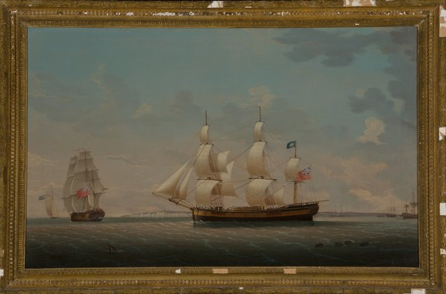 Robert Salmon, 'The Estridge in Two Views Off Dover', 1880, Painting, Oil on canvas, Heritage Auctions