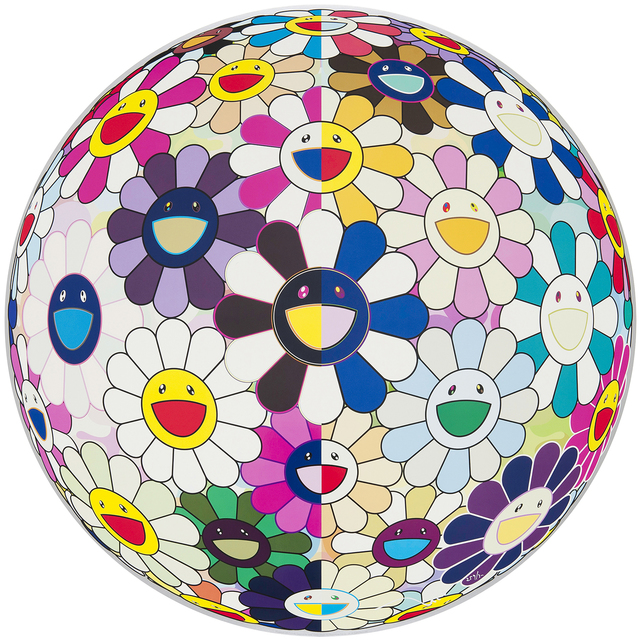 Takashi Murakami, 'Flowerball (3D) From the Realm of the Dead ', 2010, Print, Mixed Media Print, Galerie Raphael