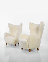 "Mogens Lassen, 'Pair of ""Wing"" Armchairs,' circa 1930, Sotheby's: Important Design"