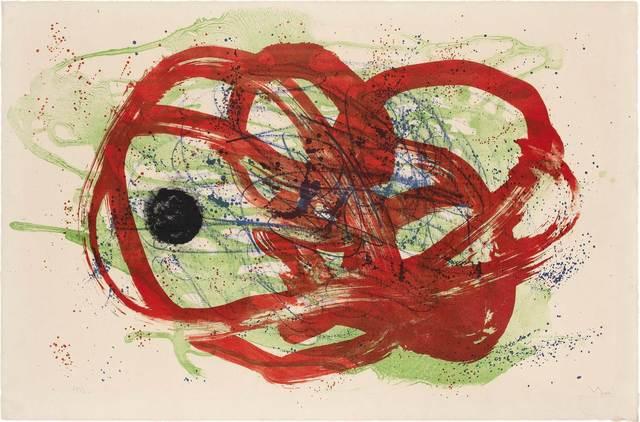 Joan Miró, 'VERT SUR ROUGE (MOURLOT 215)', 1961, Doyle