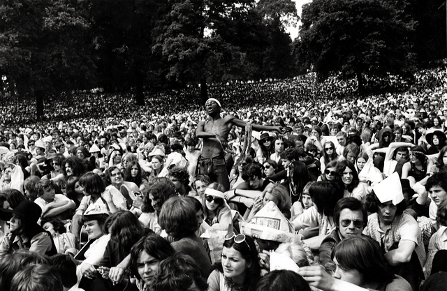 , 'And the Crowd Went Crazy: Stones Concert, Hyde Park,' 1969, Beetles + Huxley