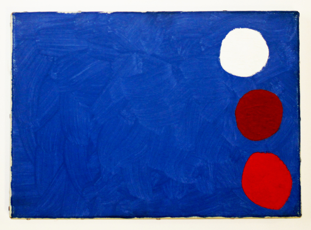 , 'Three Small Discs on Blue,' 1962, Geoffrey Diner Gallery