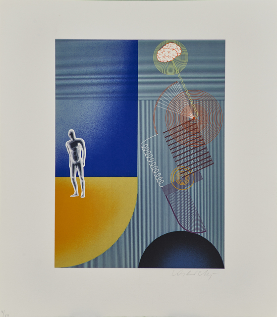 Victor Vasarely, 'Le Discours de la Méthode Portfolio', 1969, Print, Incomplete set of 22 prints and multiples, comprised of one Plexiglas optical multiple, screenprints in colors, lithographs in colors, and collage works on BFK Rives paper, text by René Descartes (in paper-covered portfolio), Rago/Wright