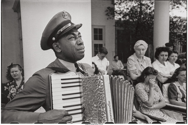 Edward Clark (1911-2000), 'C.P.O. Graham Jackson, Warm Springs, Georgia, mourning the death of FDR, April 23,', 1945, Heritage Auctions