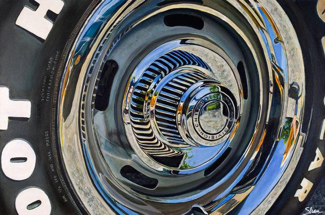 , '1971 Corvette 454 Stingray Wheel,' 2018, Zhou B Haus der Kunst