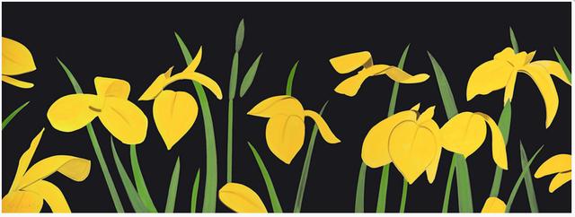 Alex Katz, 'Yellow Flags 2', 2013, Gregg Shienbaum Fine Art