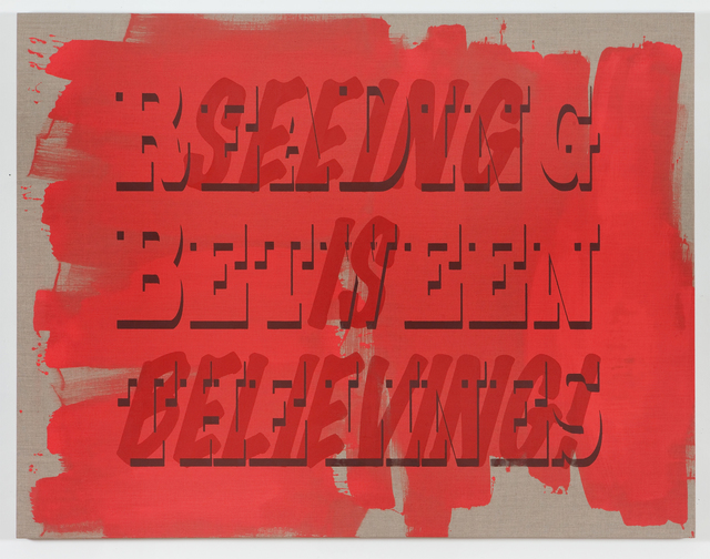 , 'Reading Between The Lines/Seeing is Believing,' 2012, Resource Art