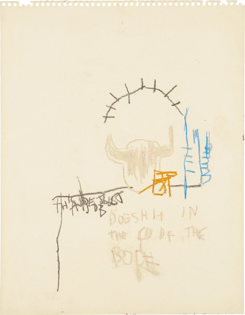 Jean-Michel Basquiat, 'Dog Shit in the Head of the Pope', Phillips