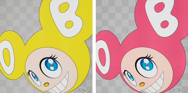 Takashi Murakami, 'And then and then and then and then and then (Yellow); and And then and then and then and then and then (Pink)', 1999, Print, Two offset lithographs in colors, on wove paper, the full sheets., Phillips