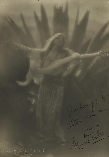 , 'Maud Allen,' 1918, Scott Nichols Gallery