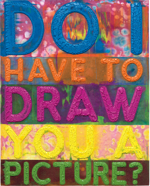 Mel Bochner, 'Do I Have To Draw You A Picture?', 2017, Phillips