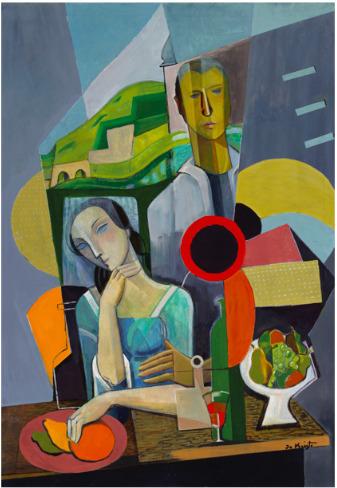 Bela de Kristo, 'Les fiancés Hongrois', 1965, Chase Contemporary