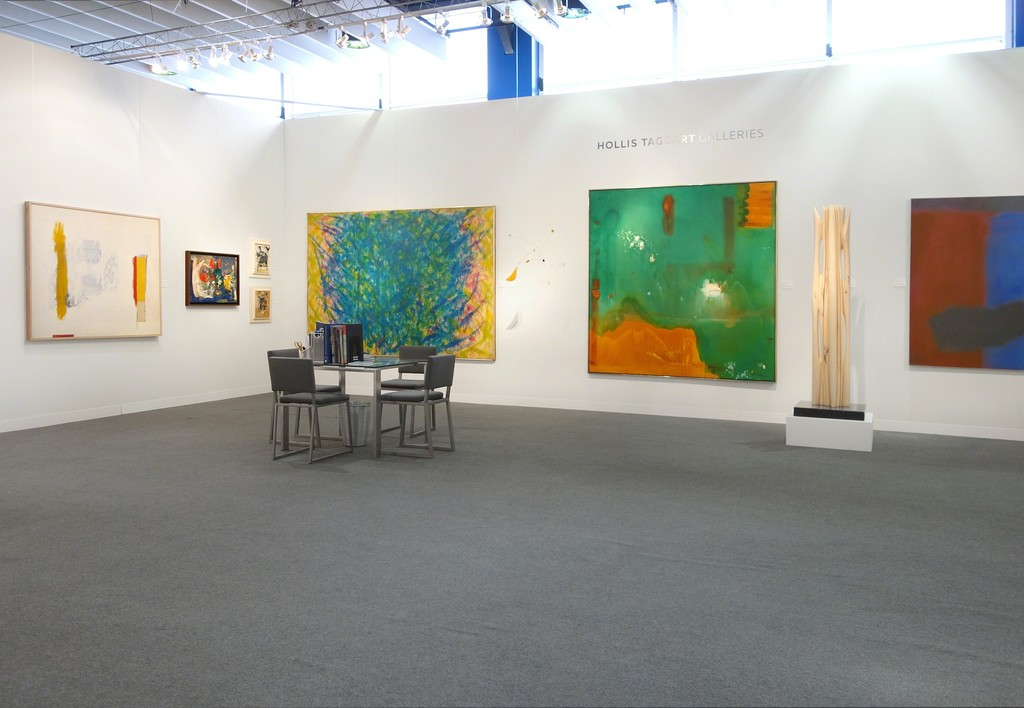 The Armory Show | Booth 406 - From left to right: Giorgio Cavallon, Hans Hofmann, Michael Goldberg, Norman Bluhm, Alexander Calder, Helen Frankenthaler, Pablo Atchugarry, and Esteban Vicente