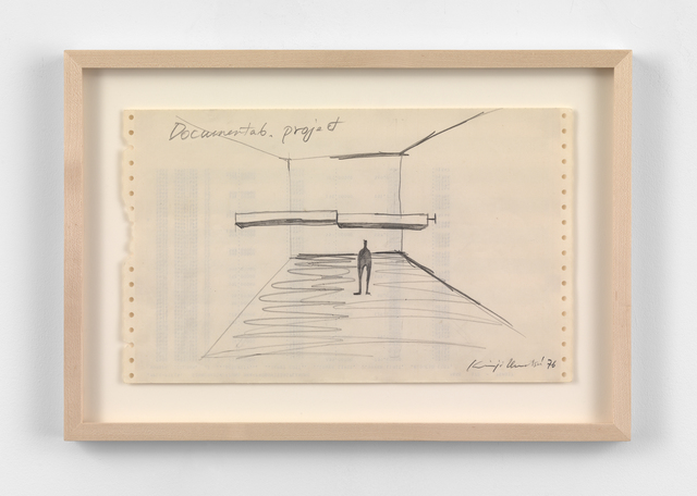 , 'Documenta 6 project drawing ,' 1976, Simon Lee Gallery