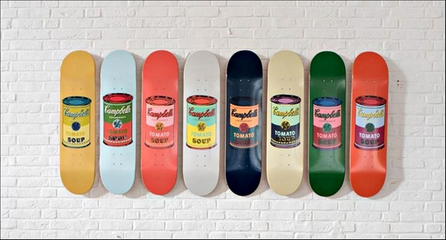 , 'Suite of Eight (8) Limited Edition Multi Colored Campbell's Soup Can Skate Decks (In Special Box),' 2015, Alpha 137 Gallery