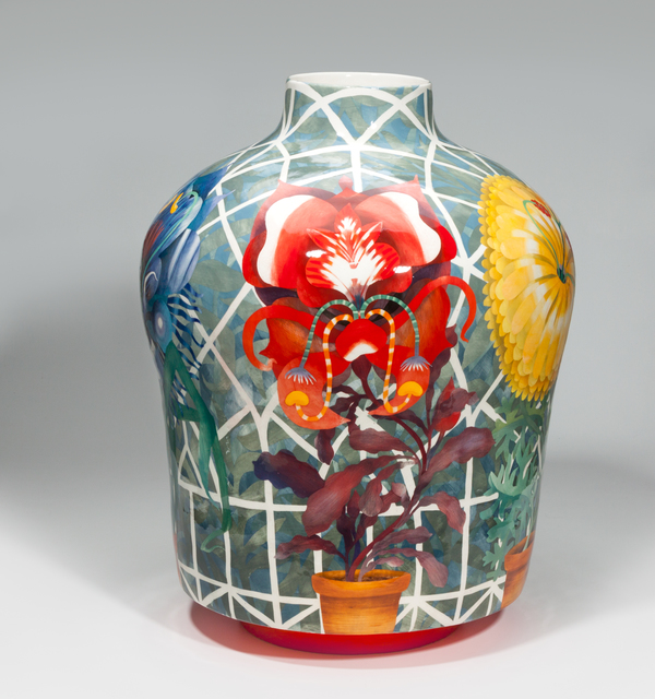 John Newdigate, 'Hot House Flowers with Strong Opinions', 2019-2020, Design/Decorative Art, Hand Painted, Glazed Porcelain, EBONY/CURATED