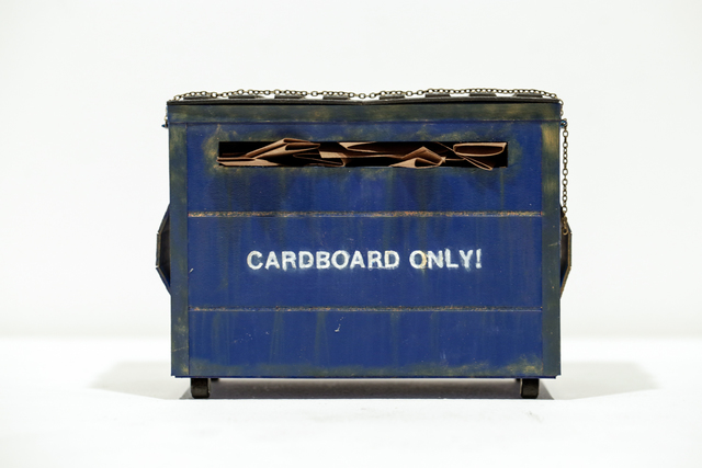 , 'Cardboard only Dumpster,' 2016, Paradigm Gallery + Studio