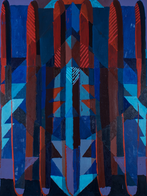 Aschely Cone, 'Diamond Stripes Escalator', 2017, Uprise Art