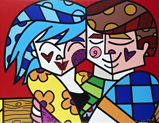 Romero Britto, 'So Happy In Love   hand embellished', 2019, Castle Fine Art
