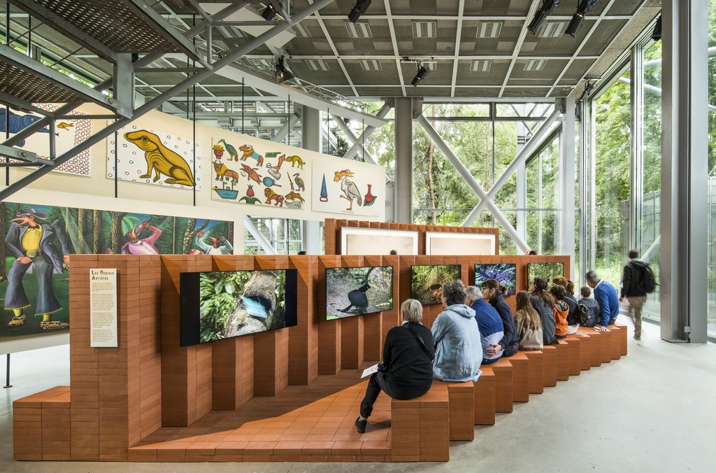 View of the exhibition The Great Animal Orchestra, Fondation Cartier, Paris, 2016.  Photo : Luc Boegly