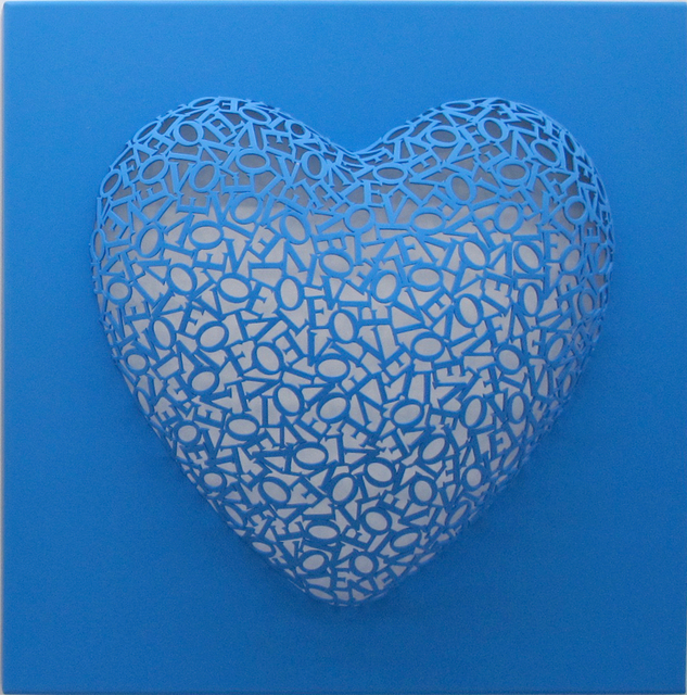 , 'Love-Love (Blue, matte),' 2016, BLANK SPACE