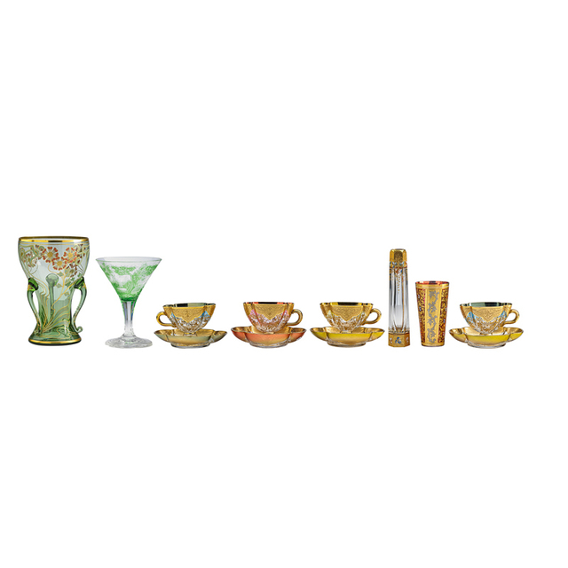 Koloman Moser, 'Twelve Pieces, Two Vases, One Glass, One Goblet, Four Cups And Saucers', Late 19th/Early 20th C, Rago/Wright