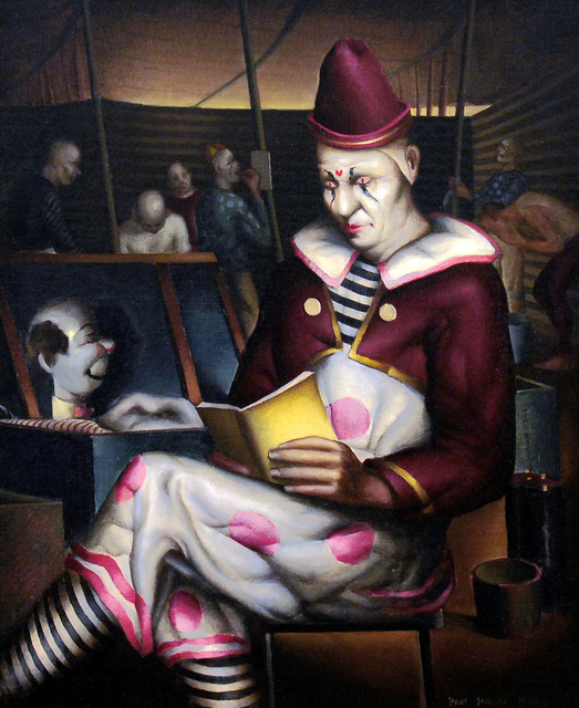 , 'Clown Reading,' 1933, Caldwell Gallery Hudson