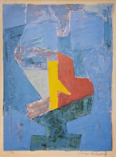 , 'Composition bleu, jaune et rouge,' 1958, Galerie Philippe David