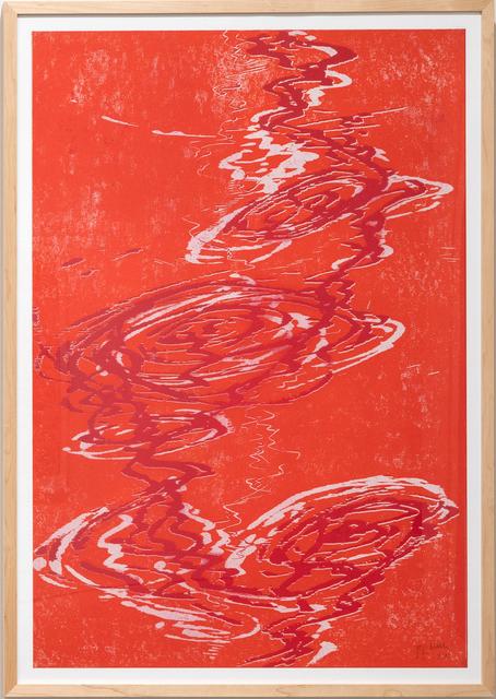 Bernd Zimmer, 'Schwimmendes Licht IV', 2015, Print, Woodcut, Galerie Wolfgang Jahn