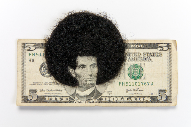 , 'Afro Abe with human Hair,' 2012, Lisa Sette Gallery
