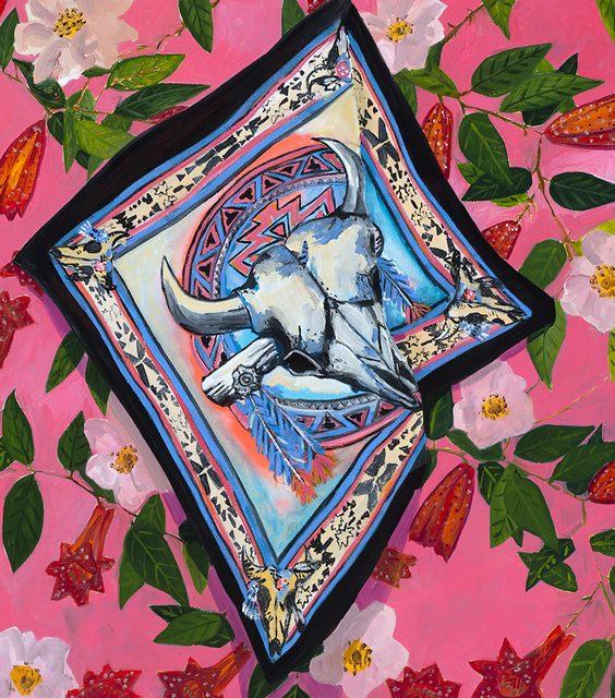 , 'Desert Roses Handkerchief,' 2018, Tappan