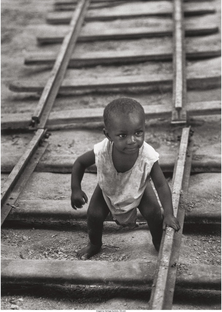 W. Eugene Smith, 'Baby boy on railroad track from A Man of Mercy', 1954, Heritage Auctions