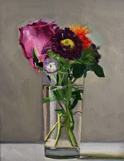 Dan McCleary, 'Mixed Flowers with Purple rose', 2017, Craig Krull Gallery