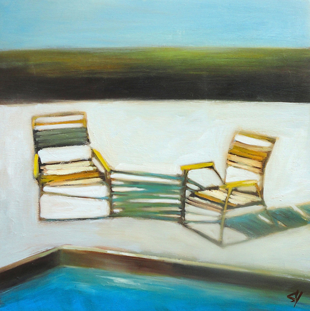 , 'Pool Chairs,' 2013, Sue Greenwood Fine Art