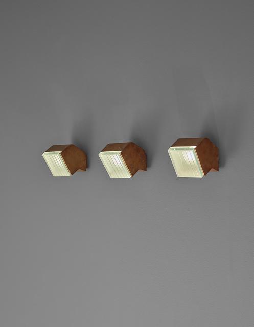 Fontana Arte, 'Set of three wall lights, model no. 2140', ca. 1960, Phillips