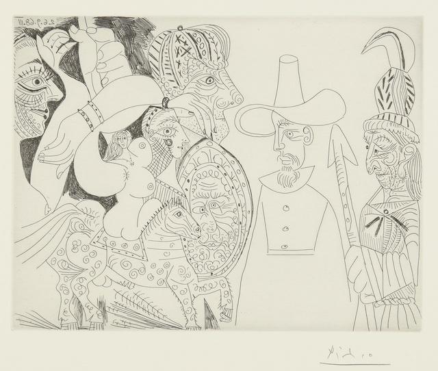 Pablo Picasso, 'Télévision: Quaker, peau-rouge, écuyère... (B. 1818; Ba. 1835)', 1968, Print, Etching, Sotheby's