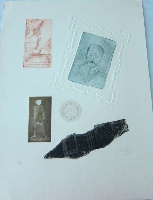 Zwy Milshtein, 'Surrealist etching and embossing', 20th Century, Lions Gallery