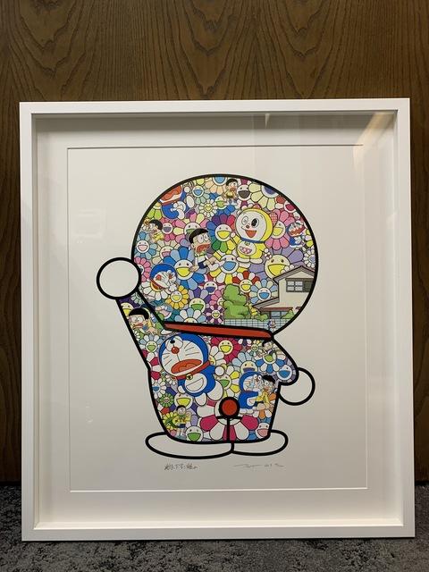 Takashi Murakami, 'Doraemon in the Field of Flowers (Signed & Framed)', 2019, Curator Style