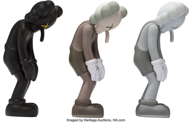 KAWS, 'Small Lie, set of three', 2017, Sculpture, Painted cast vinyl, each, Heritage Auctions