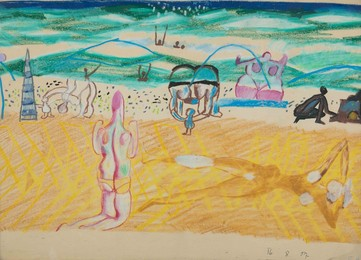 Beach with bathers